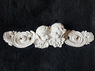 £18 • Buy 1 Long Architectural Ornate Plaster Cherub Angel Face Wall Decor Plaque Moulding