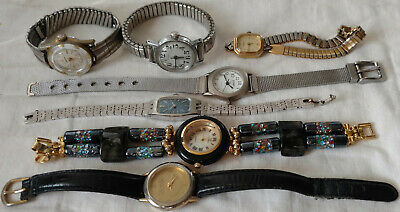 $ CDN14 • Buy Lot Of Seven Vintage Watches For Parts Or Repairs Timex Manson Caravelle Seiko