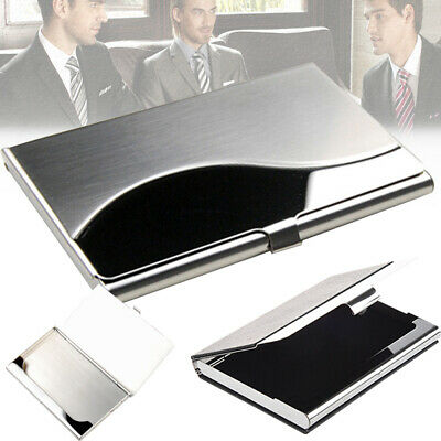 Metal Card Holder Case Cover Credit ID Business  Stainless Steel  Name Silver • 3.59£