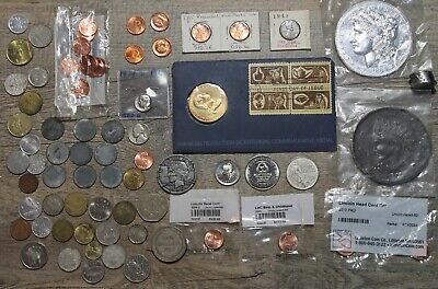 $14.99 • Buy COIN COLLECTION US & FOREIGN MONEY Tokens Medals Mint Uncirculated Proof Rare