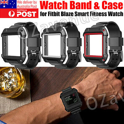 AU10.99 • Buy Rugged Protective Case With Silicone Wrist Strap Bands For Fitbit Blaze Watch