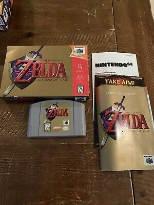 $70 • Buy The Legend Of Zelda Ocarina Of Time (N64,1998) Complete In Box ( CIB ) Authentic