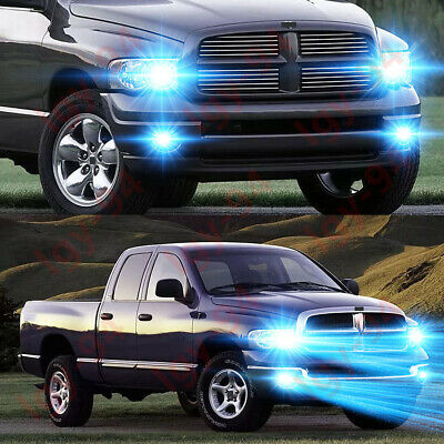 $32.17 • Buy For 2003-2005 Dodge Ram 1500 2500 3500 -4X 8000K LED Headlight + Fog Light Bulbs