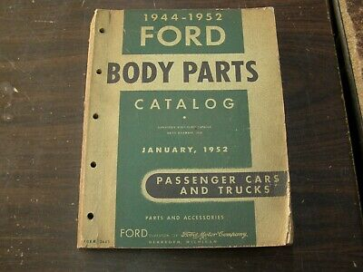 $119 • Buy OEM Ford 1944 1952 Car Truck Master Body Parts Book Catalog 1948 1949 1950 1951