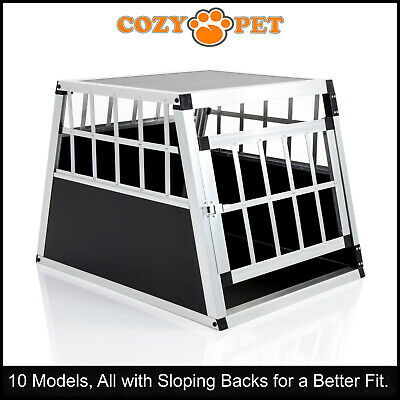 £69.99 • Buy Aluminium Car Dog Cage Cozy Pet Travel Puppy Crate Pet Carrier Transport ACDC01