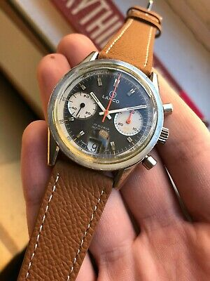 $ CDN1653.20 • Buy Vintage Lanco Chronograph Valjoux 7734 Rare Panda Dial Handwind Watch
