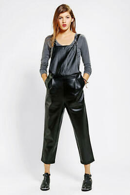 AU22 • Buy Urban Outfitters Nwt Rrp$249 Perforated Vegan Leather Overalls Little White Lies
