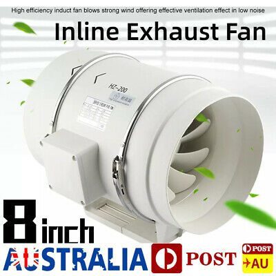AU85.98 • Buy 8inch Exhaust Vent Fan Inline Duct Blower Grow Tent Ventilation Hydroponic