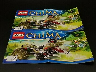 AU7.07 • Buy LEGO Chima Crawley's Claw Ripper 70001 INSTRUCTION MANUALS 1 & 2 ONLY - NEW