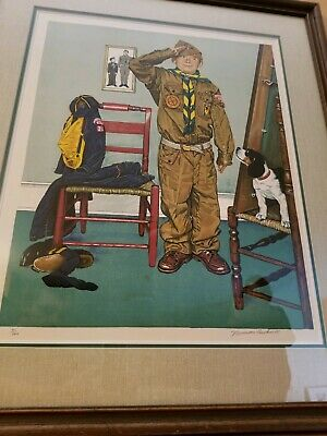 $ CDN2273.45 • Buy Can't Wait By Norman Rockwell - 41/200, Limited Edition Print, Hand Signed