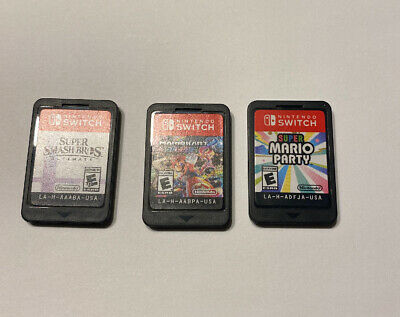 $159.99 • Buy Nintendo Switch Games LOT OF 3 Super Mario Party Kart Smash Bros Cartridges Only