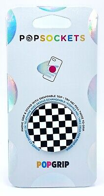AU13.79 • Buy PopSockets Checkerboard Black & White Swappable Top PopSocket Pop Socket PopGrip