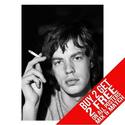 £8.99 • Buy Mick Jagger Rolling Stones Bb1 Poster Art Print A4 A3 Size Buy 2 Get Any 2 Free