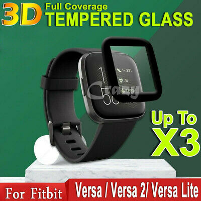 $ CDN5.09 • Buy For Fitbit Versa 2 2019 /Versa Lite Full Cover Tempered Glass Screen Protector