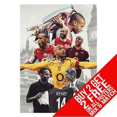 £8.99 • Buy Thierry Henry Arsenal Bb1 Poster Art Print A4 A3 Size Buy 2 Get Any 2 Free