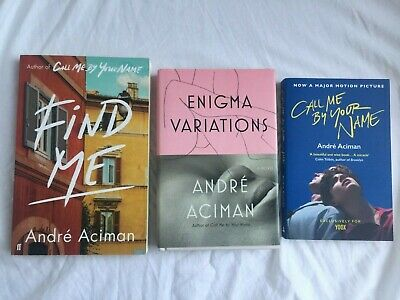 AU100 • Buy Andre Aciman Book Set SIGNED Call Me By Your Name, Find Me, Enigma Variations