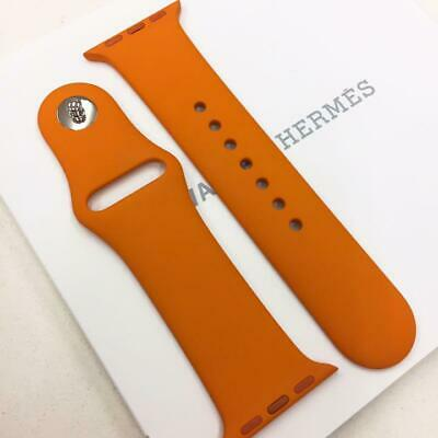 AU233.85 • Buy Hermes Apple Watch 4 Silicone Sport Strap Replacement Band Orange 38mm F/S
