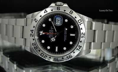 $ CDN11543.03 • Buy 2009 Mint Men's Rolex Explorer Ii 16570 Stainless Steel Gmt Black Dial 40mm.