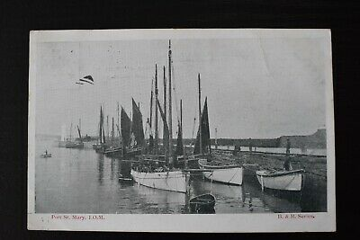 £5 • Buy Postcard Port St Mary Isle Of Man Sailing Boats Posted 1904