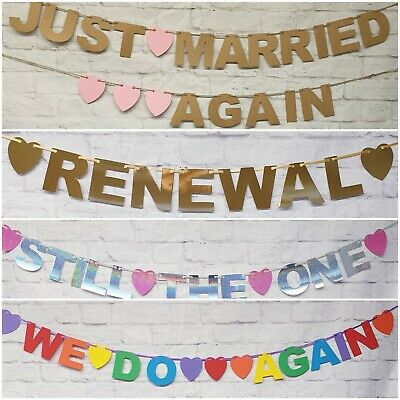 Wedding Renewal Bunting Banners Photo Prop Wedding Decoration PERSONALISED  • 4.69£