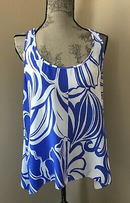 $15 • Buy Lilly Pulitzer Maile Racerback Tank Top Size Large
