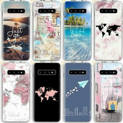 World Map Travel Quotes Soft Case For Samsung S9 S10 A50 IPhone 11 Pro X XS 8 7 • 4.73£