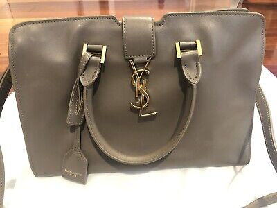 AU990 • Buy YSL Saint Laurent CABAS BAG **authentic** Smooth Leather