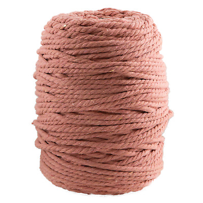 AU45 • Buy 5mm Dusty Peach Macrame Rope Coloured 3 Ply Cotton Cord String Twisted Australia