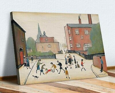 Ls Lowry Children Playing CANVAS WALL ART PICTURE PRINT PAINTING FRAMED • 19.99£