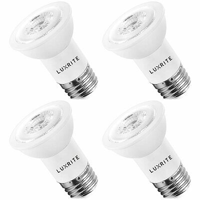 $52.98 • Buy Luxrite 8W PAR16 LED Bulb 50W Equivalent Dimmable 3000K 560lm E26 Base 4-Pack