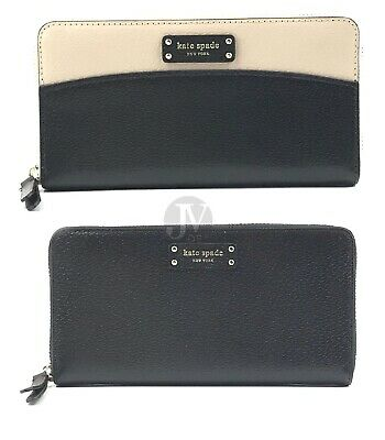 $ CDN87.12 • Buy Kate Spade (WLRU5581) Jeanne Pebbled Leather Large Continental Zip Clutch Wallet
