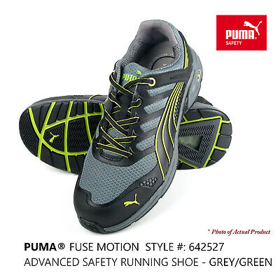 AU119 • Buy PUMA® Work/Running Shoes FUSE MOTION Safety Composite Toe #642527 Grey/Green