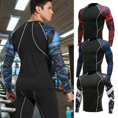 Mens Compression Armour Base Layer Top Thermal Shirt Leggings Trousers Pants M8 • 13.39£