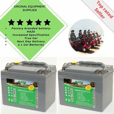 Golf Buggy & Mobility Scooter GEL Batteries Pair (x2) HZY-EV12-33 Free P&P  • 165£