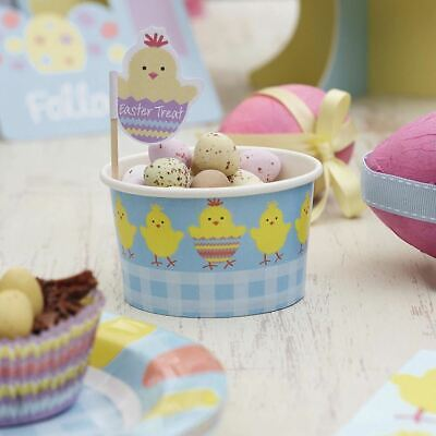 24 Ice Cream Tub Tableware Party Food Treat Pot Paper Snack Sweet Easter Outdoor • 6.99£