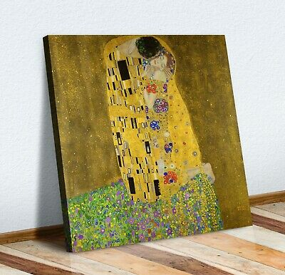 $ CDN22.13 • Buy Gustav Klimt The Kiss Square CANVAS WALL ART PICTURE PRINT PAINTING GOLD