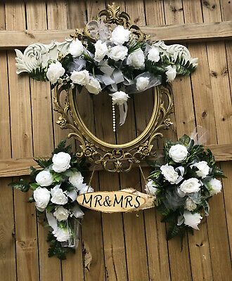 $60 • Buy SWAG Centerpieces Silk Wedding Flowers Arch Gazebo Decor  Archway Set WHITE