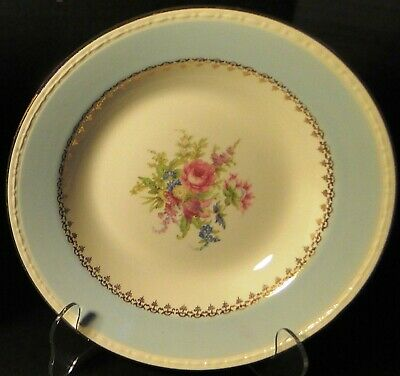 $5.59 • Buy Homer Laughlin Eggshell Georgian Chateau Blue Soup Bowl 8 1/4  Excellent