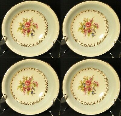 $15.59 • Buy Homer Laughlin Eggshell Georgian Chateau Blue Berry Bowls  3/8  Set 4 Excellent