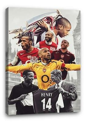 £29.99 • Buy THIERRY HENRY ARSENAL BB1 CANVAS Wall Art Poster Photo Print 30x20 CANVAS