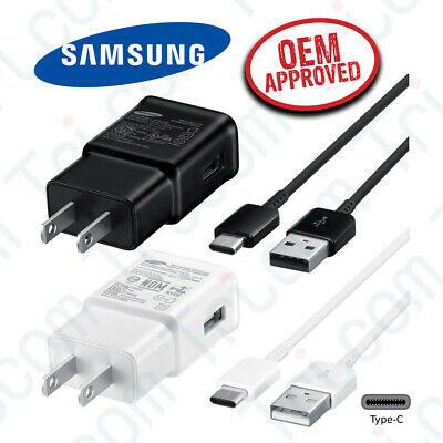 $ CDN9.07 • Buy Original Samsung Galaxy S8 S9 Plus + Note 8 Fast Wall Charger 1M Type-C Cable