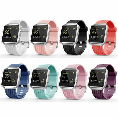 AU3.52 • Buy For Fitbit Blaze Silicone Replacement Wristband Sport Wrist Strap Watch Band HOT
