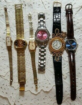 $ CDN40.16 • Buy Lot Of 6 Vintage Lady Wrist Watches Seiko Hamilton Ltd Lucien Overload Sheffield