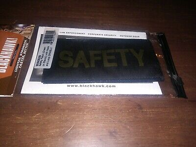 $9.99 • Buy Safety Patch Green On Black With Hook And Loop Military Militia Law Enforcement