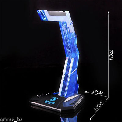 AU17.99 • Buy Sades Headphone Stand For Pro Gaming Headset Acrylic BLUE Birthday Gift Sepy