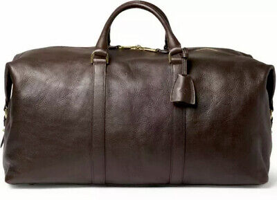 £853.27 • Buy MULBERRY⚡️[$2,300]  Clipper  Large Dark Brown Leather Holdall Weekend Duffel Bag