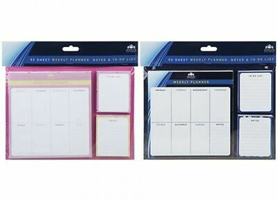 Weekly Planner To Do List Desk Note Pad Meal Plan Home Office 52 Tear Off Sheets • 5.99£