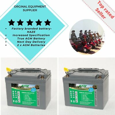 HZB-EV12-33 Battery Twin Pack (x2)  Free P&P. Golf & Mobility Scooter Batteries  • 152£