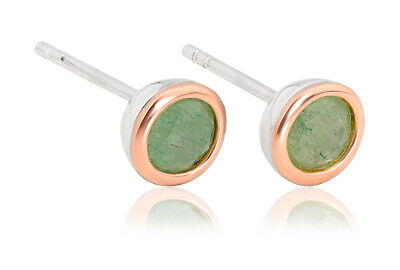 NEW Welsh Clogau Silver & Rose Gold Aventurine Earrings £50 Off! RARE! • 39£
