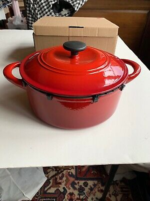 $ CDN60.26 • Buy Tramontina 5.5-Qt Red Enameled Cast Iron Round Dutch Oven